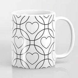 Decor with circles and hearts Coffee Mug
