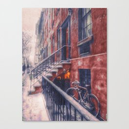First NYC Snowfall of 2017 Canvas Print