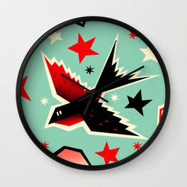 Swallow the cherry Wall Clock
