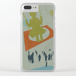 Life gets in the way Clear iPhone Case