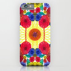 Garden Party - Illustrated flowers and leaves Slim Case iPhone 6s