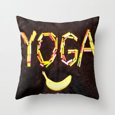 YOGA-B-SMILE Throw Pillow