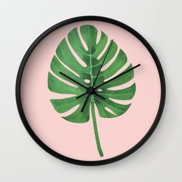 SWISS CHEESE PLANT 02, by Frank-Joseph Wall Clock