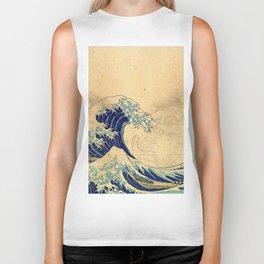 Hokusai parchment Biker Tank