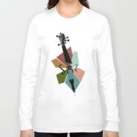 cello Long Sleeve T-shirts featuring Bach - Cello Suites by Prelude Posters