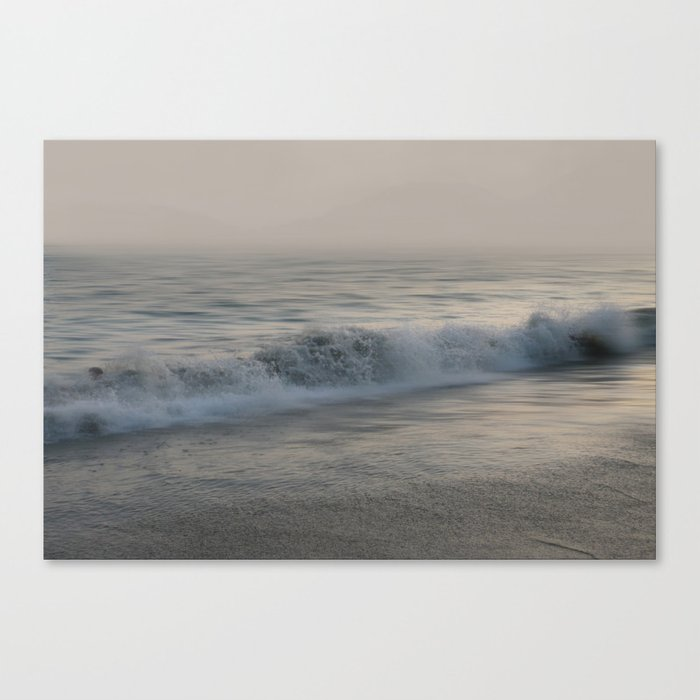 Misty Morning At Sea Canvas Print
