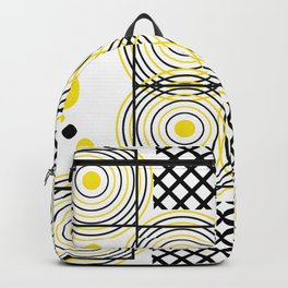 Circle Square Optical Deception Gift Colorful Backpack