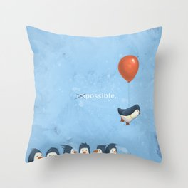 Penguin Possible Throw Pillow