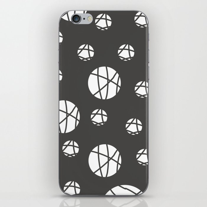 Broken Orbs (WhiteOnGray) iPhone Skin