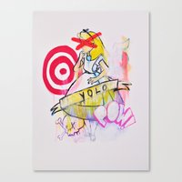 yolo Canvas Prints featuring YOLO by John O'Connor