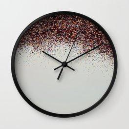 Glitter Sparkle Confetti Rainbow Party Wall Clock