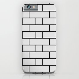 Brick wall texture black and white iPhone Case