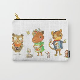 Capybara and friends Carry-All Pouch