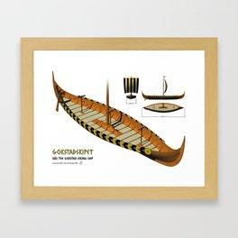 Gokstad Viking Ship Framed Art Print