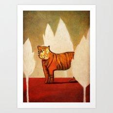 Twilight of the Sumatran Tiger Art Print