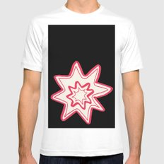 POW White MEDIUM Mens Fitted Tee