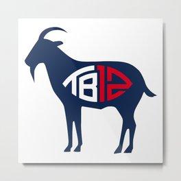 Tom Brady - G.O.A.T T-shirt Metal Print