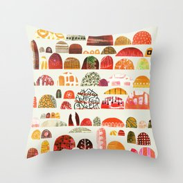 We are camping at the festival this summer Throw Pillow