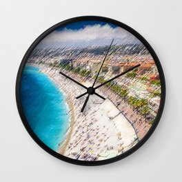 The French Riviera Landscape Painting by Jeanpaul Ferro Wall Clock