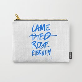 #JESUS2019 - Came Died Rose Eternity (blue) Carry-All Pouch