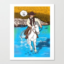 Frontier Tales: Jimmy and his horse Jack Canvas Print