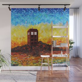 Time and Space Traveller Box in Twilight Zone Wall Mural