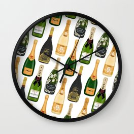 Champagne Bottles Wall Clock