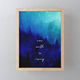 Sparkling New Earth Framed Mini Art Print