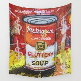 Gluttony Soup Preserves Wall Tapestry