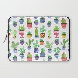 Watercolor Cactus + Succulents Laptop Sleeve
