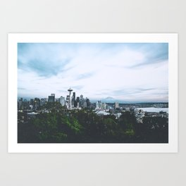 Seattle afternoon views Art Print