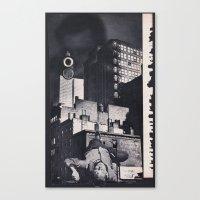 noir Canvas Prints featuring Noir by Michael Tunk