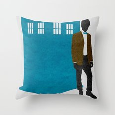MAD MAN With A Box Throw Pillow