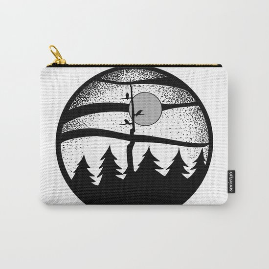 Raven Tree Monochrome Carry-All Pouch