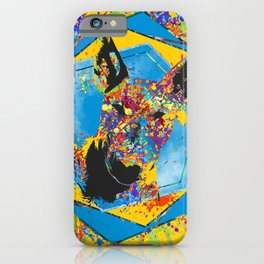 Bull Terrier  - Bully Abstract Mixed Media iPhone Case