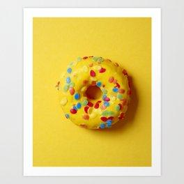 Colorful Donut Art Print
