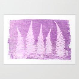 Fern leaves #3 Art Print