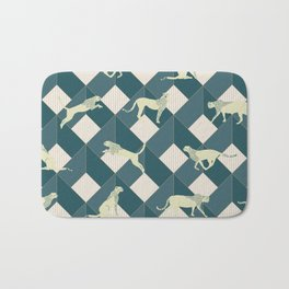 Geometric Safari Wild Leopard Animal Bath Mat