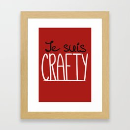 Je suis CRAFTY Framed Art Print