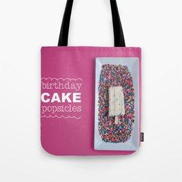 Birthday Cake Popsicle Tote Bag