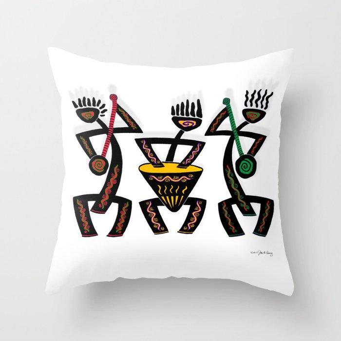MUSICIANS Throw Pillow