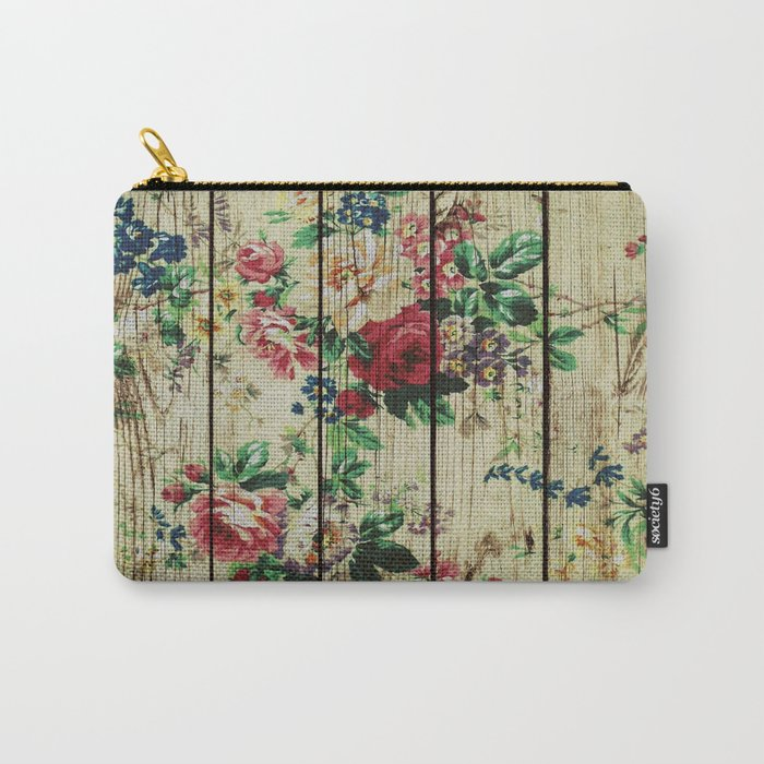 Flowers on Wood 01 Carry-All Pouch