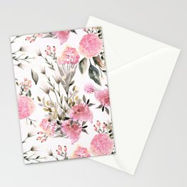 Roses and Wild Flowers Stationery Cards
