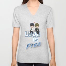 Love is Free Unisex V-Neck