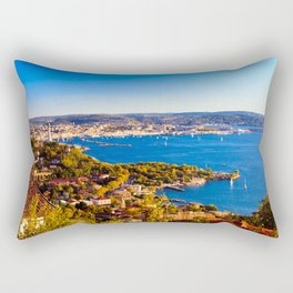 Evening after the Barcolana regatta of record in the gulf of Trieste Rectangular Pillow