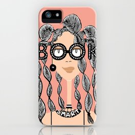 Book smart with braids iPhone Case