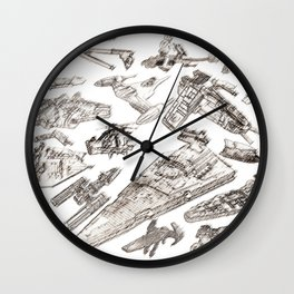 SW Rough Pastels Wall Clock