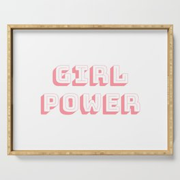 Girl Power Pink Feminism Serving Tray