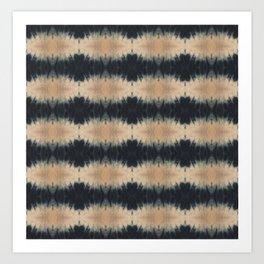 Shibori Stripes Art Print