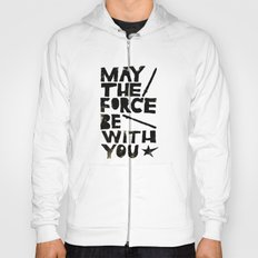May the Force be with You - Linocut Star Wars Movie Poster Hoody